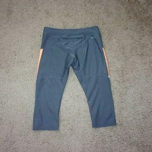 Nike Pants - Nike Running Leggings Crop Gray Orange Medium